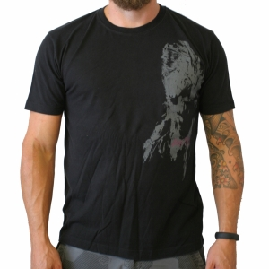T-Shirt vintage schwarz